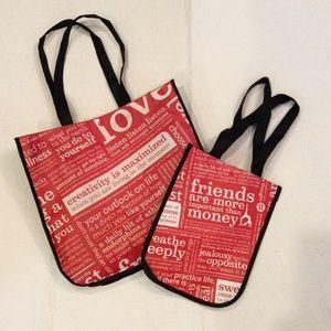 Set of 2 Lululemon Shopping Bags